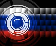 Russia Flag Design Shows Hacking 3d Illustration. Russia Flag Design Showing Hacking 3d Illustration Stock Photos