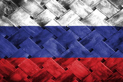 Russia flag, flag on the wood Stock Photos