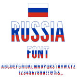 Russia Flag Font Stock Image
