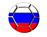 Russia flag on football ball, 2018 Championship, white backgroun Stock Image