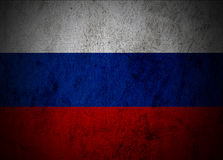Russia flag. Russia flag on grunge cement background Stock Image