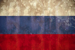 Russia flag in grunge effect Royalty Free Stock Images