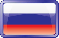 Russia Flag Icon Royalty Free Stock Image