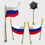 Russia flag icons, vector illustration Stock Photos