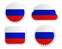 Russia flag labels Royalty Free Stock Photo