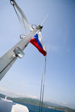 Russia flag on mast Stock Photos