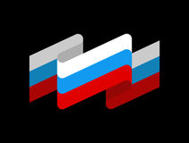 Russia flag ribbon isolated. Russian tape banner. state symbol Royalty Free Stock Photography