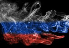 Russia flag smoke Royalty Free Stock Photography
