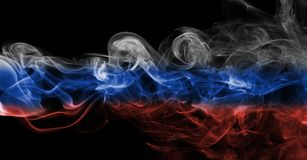 Russia flag smoke Stock Images