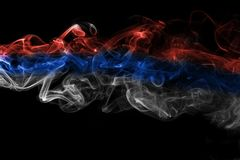 Russia flag smoke Royalty Free Stock Images