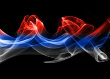 Russia flag smoke. Isolated on a white background Royalty Free Stock Photos