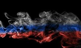 Russia flag smoke. Isolated on black background Royalty Free Stock Image