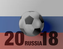 Russia Flag Soccer Concept. Creative Graphic Design Illustration Image Stock Photo