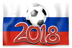 Russia Flag Soccer Concept. Creative Graphic Design Illustration Image Royalty Free Stock Photography