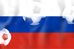 Russia Flag Soccer Concept. Creative Graphic Design Illustration Image Stock Photos