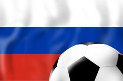 Russia Flag Soccer Concept. Creative Graphic Design Illustration Image Royalty Free Stock Photos