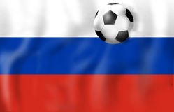Russia Flag Soccer Concept. Creative Graphic Design Illustration Image Royalty Free Stock Photo
