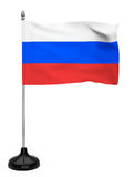 Russia flag with stand Royalty Free Stock Photography