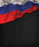 Russia Flag Vintage on a Grunge Black Chalkboard  Royalty Free Stock Photography