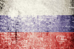 Russia Flag. On wood texture background Stock Photography