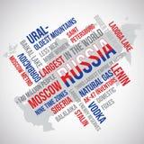 Russia Flag Word Vector Stock Photos