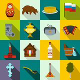 Russia flat icons Royalty Free Stock Images