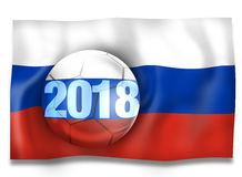 2018 Russia Football Ball. Creative Graphic Illustration Design Royalty Free Stock Image