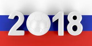 Russia 2018 football concept image Royalty Free Stock Image