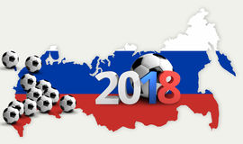 2018 russia football. 3d render russian soccer football. Stadiums 2018 russia football. 3d render russian soccer football graphic Stock Images