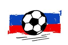 2018 Russia Football Flag Vector ball. Illustration Brush Stock Photography