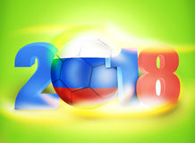 2018 Russia Football Soccer Bright. Graphic Stock Images