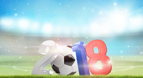2018 Russia football soccer 3d render. Illustration Royalty Free Stock Image
