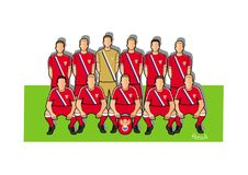 Russia football team 2018. Qualified for the 2018 world cup in Russia Royalty Free Stock Image