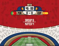 Russia football teams group. At stadium vector illustration graphic design Royalty Free Stock Images
