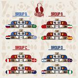 Russia football teams group. Set of Russia football teams group icon vector illustration graphic design Royalty Free Stock Photography