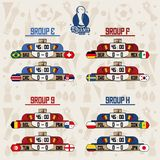 Russia football teams group. Set of Russia football teams group icon vector illustration graphic design Stock Images