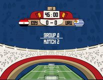 Russia football teams group. At stadium vector illustration graphic design Stock Images