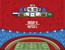 Russia football teams group. At stadium vector illustration graphic design Royalty Free Stock Photography