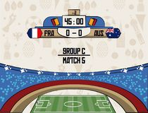 Russia football teams group. At stadium vector illustration graphic design Royalty Free Stock Photos