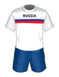 Russia football uniform Stock Photography