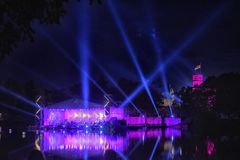 Concert of classical music in the romantic atmosphere of the ancient Gatchina Park. Festival 'Night of Music', dedicated to the 1 royalty free stock images