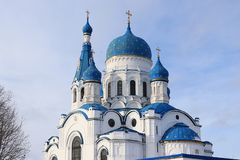 Russia, Gatchina, March 2, 2019, Pokrovsky Cathedral Royalty Free Stock Photos