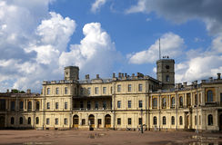 Russia,Gatchina, parade ground before palace, clouds Stock Photos