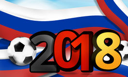 Russia germany soccer football 2018 bold 3d illustration. Graphic image Stock Photo