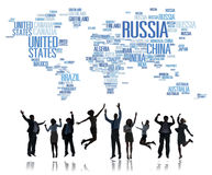 Russia Global International Countries Globalization Concept Stock Photo