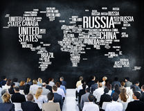 Russia Global World International Countries Globalization Concept stock image