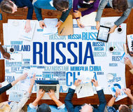 Russia Global World International Countries Globalization. Concept Royalty Free Stock Photography