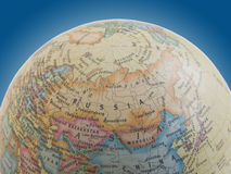 Russia on the globe Royalty Free Stock Photography