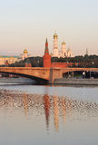 Russia. Gold domes of Moscow Kremlin Royalty Free Stock Photography