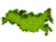Russia Grass Map Stock Photo